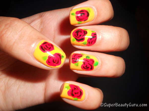 How To Rose Nail Art Ideas