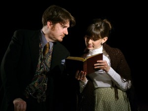 Scott Brill as Dr. Mortimer, Kate Rakowski as Laura Lyons