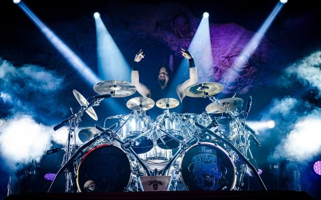 Legendary metal drummer Gene Hoglan on stage