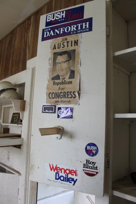 Old political artifacts.