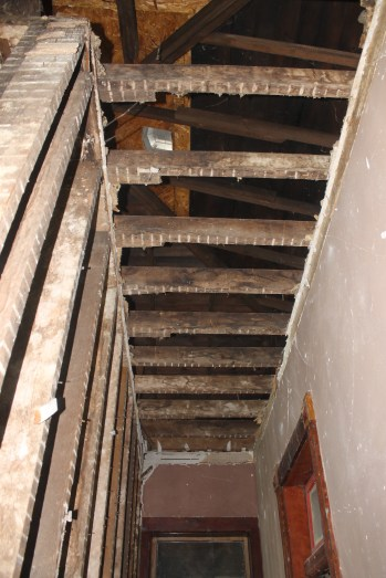 Upstairs ceiling. All the water damage is gone! And no more raccoons in the attic!