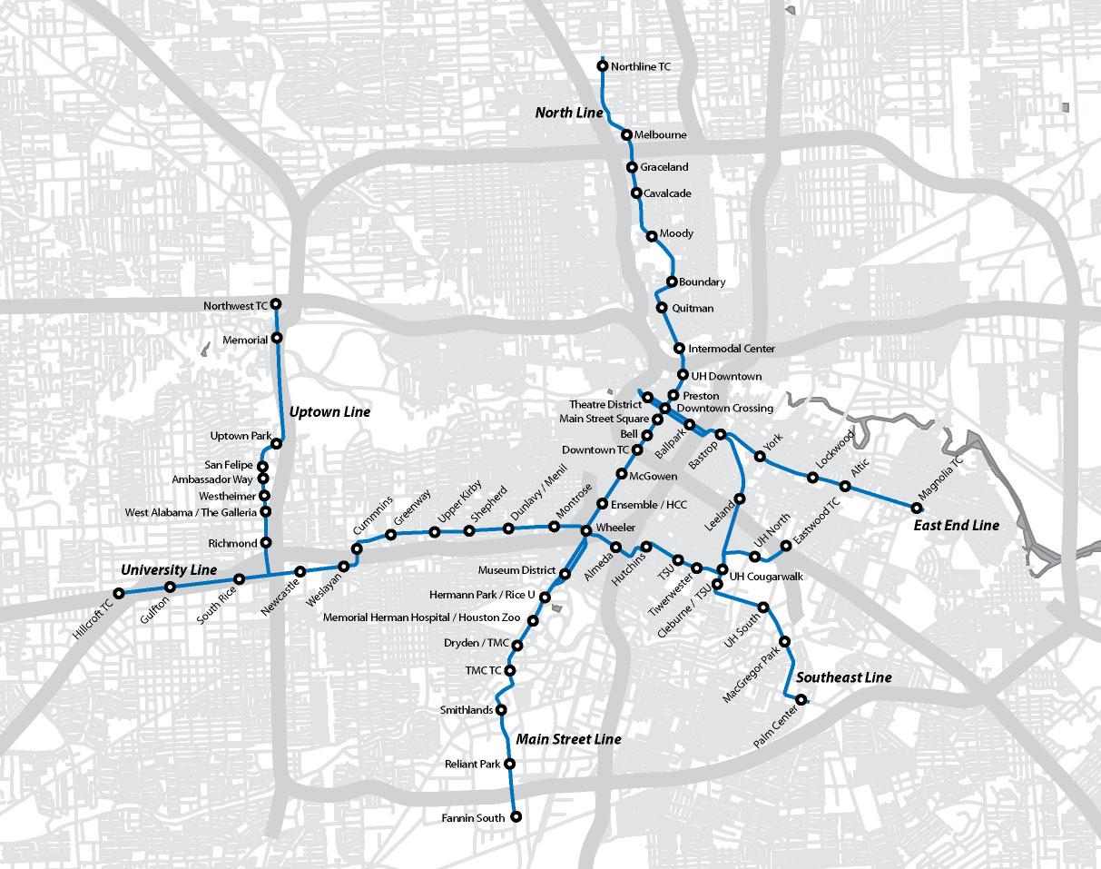 Houston Light Rail Map