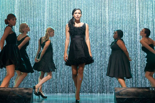 Still of Glee showing Santana, a Latina Lesbian character mentioned in Con Todo's Visions Of Us