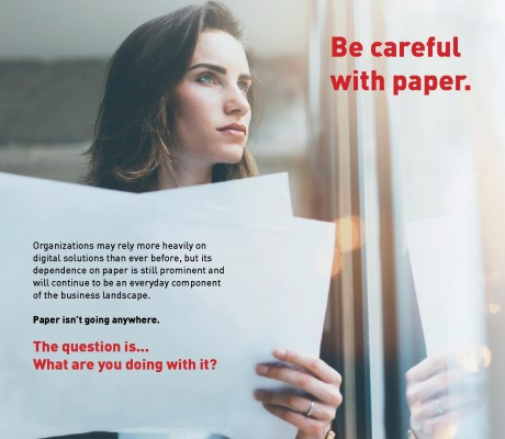 Be careful with paper.