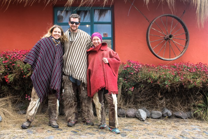 Chaps and ponchos in the Ecuador highlands.
