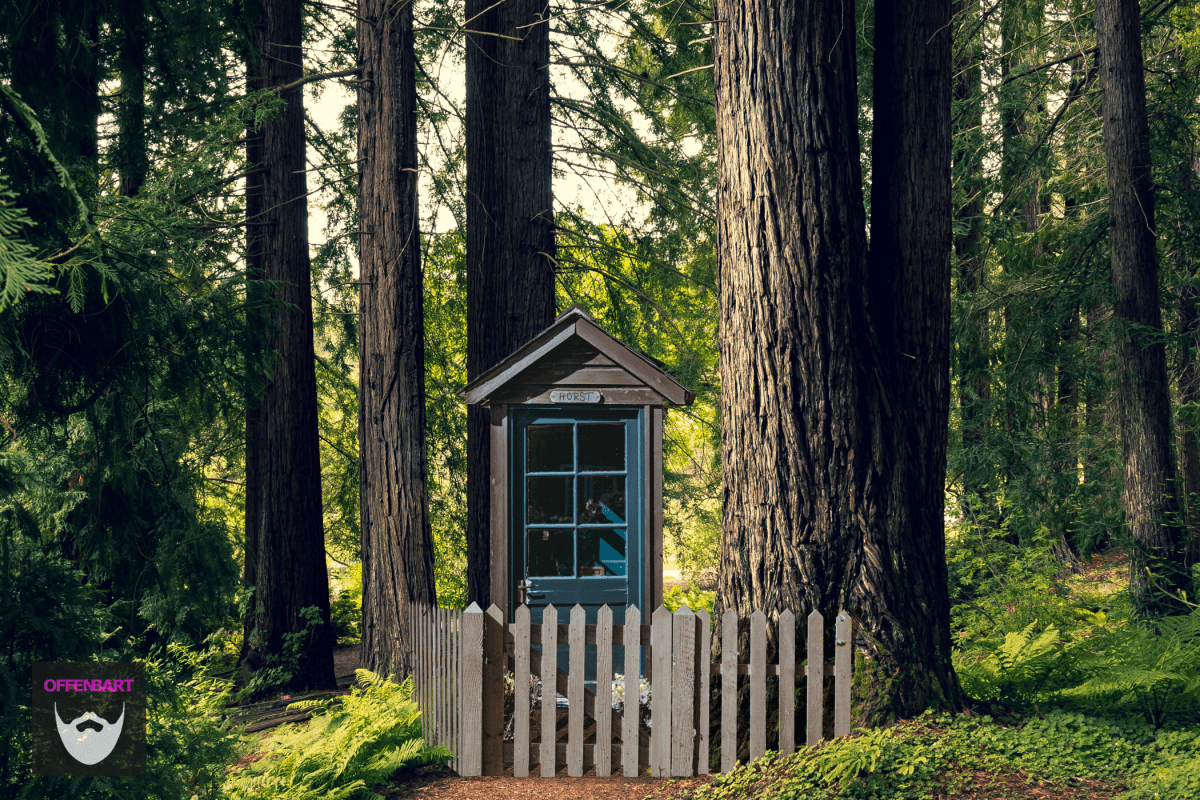 Bildnachweis: Magnolia Cottage by Annie Spratt Unsplash.com License sowie Fairyland by Annie Spratt Unsplash.com License , bearbeitet von Simon Mallow.