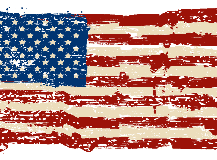 American Flag Tattered and Worn 2