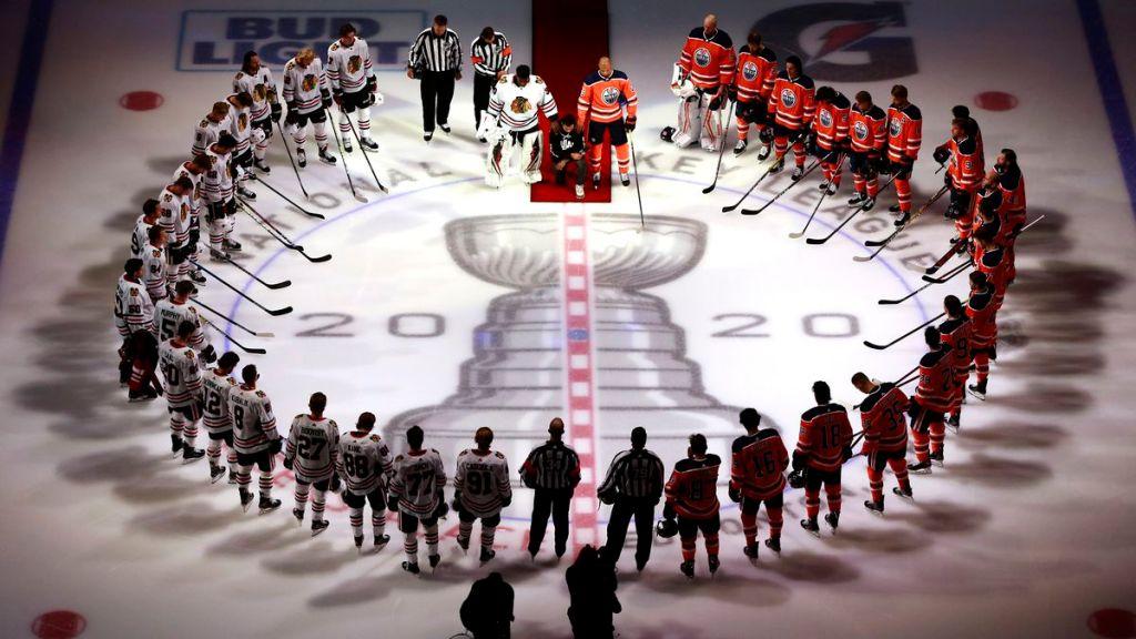 NHL Matt Dumba Kneels