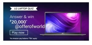 Amazon LG Laptop Quiz Answers