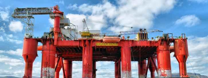 clouds crane drill drilling