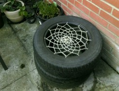 seat we made from old tires