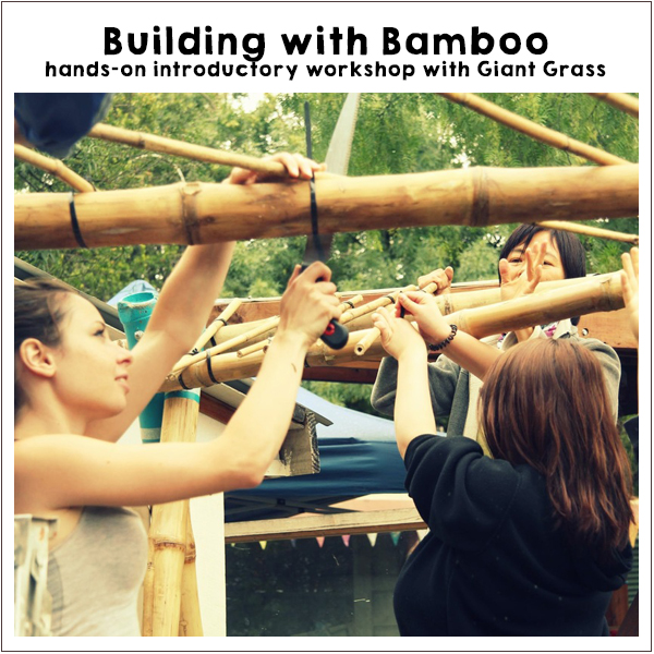 Building with Bamboo workshop. Off-Grid Living Festival. Events Victoria