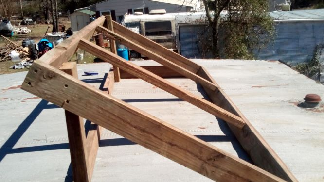 Homemade solar panel rack or frame. Frre, Used materials. Easy to build, DIY