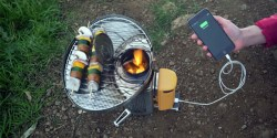 Thermoelectric Power Generator: BioLite's Wood Burning Camping Stoves to Cook Your Meals and Juice Up Your Phone On the Go