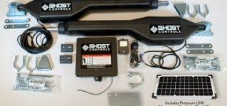 Ghost Controls Solar Dual Automatic Gate Opener