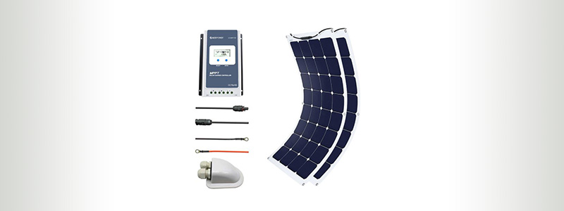 AcoPower 220W Flexible Solar Panel Kit