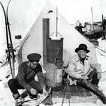 Ernest Shackleton and Frank Hurley