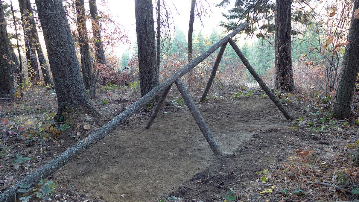 Survival shelter a frame