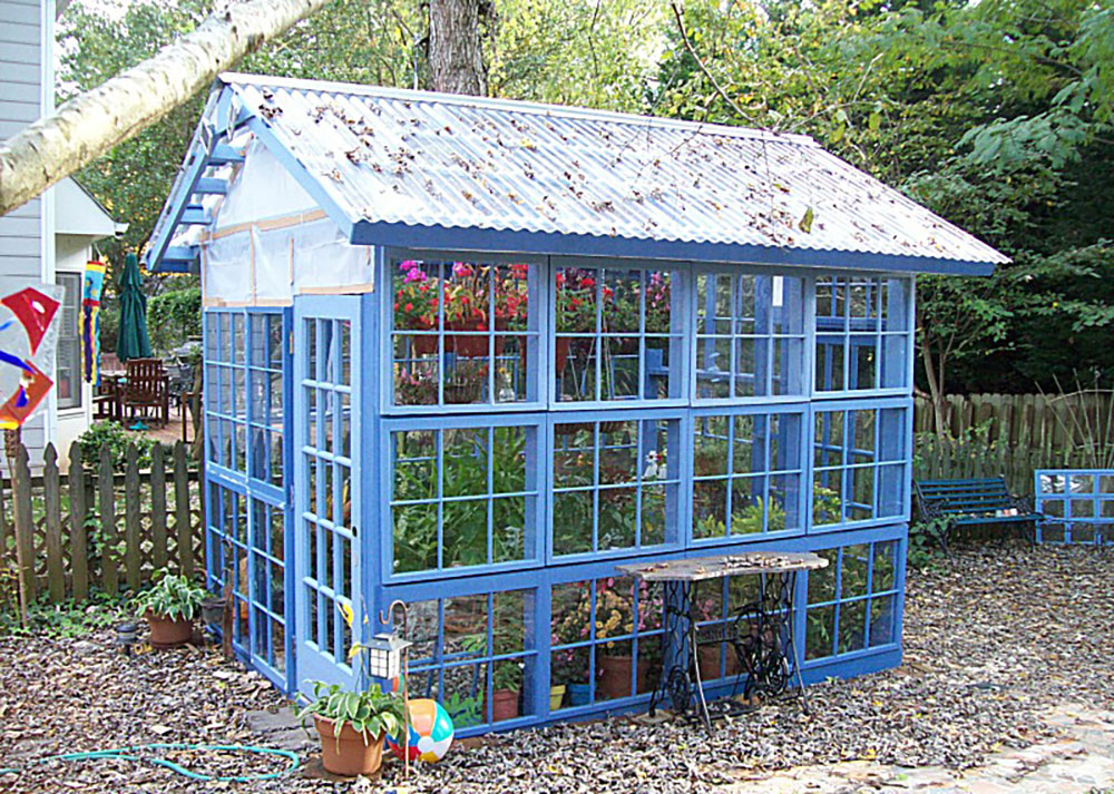 Greenhouses made with old windows