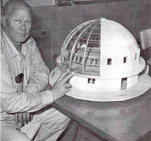 Above: George Van Tassel with a model of The Integratron.