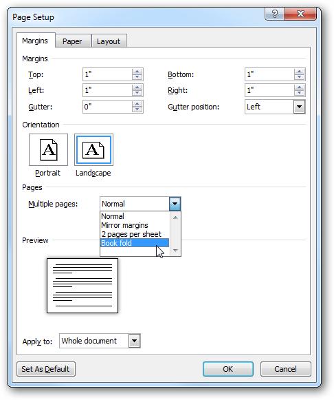 Membuat dan mencetak brosur di Word