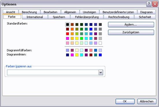 Excel Perfekter Zugriff Auf Farben Aus Excel
