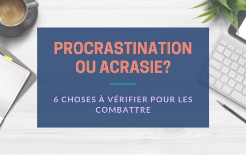 combattre la procrastination