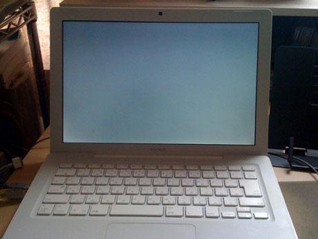 グレー画面で起動せず:Mac Book