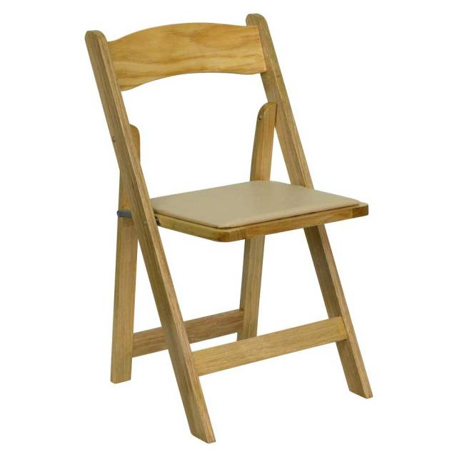 Hercules wooden folding chairs with padded