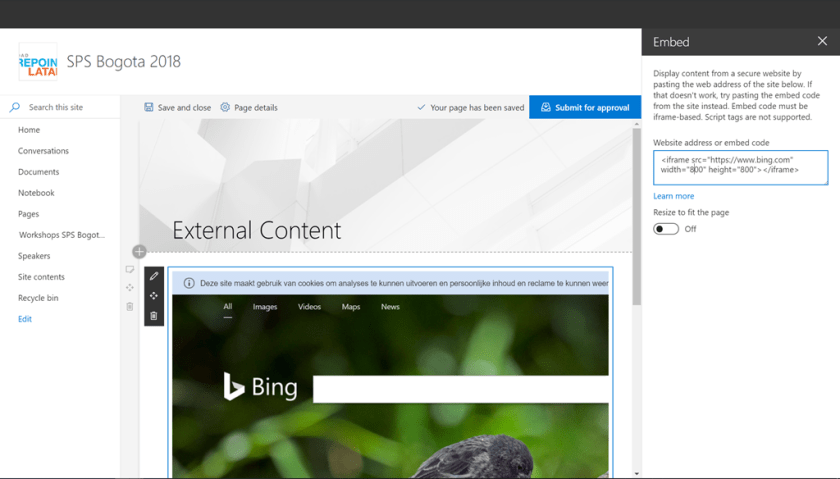 How to Embed External Content in Modern SharePoint Online