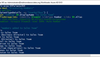 Tuning PowerShell for Office 365 Group Membership - Office
