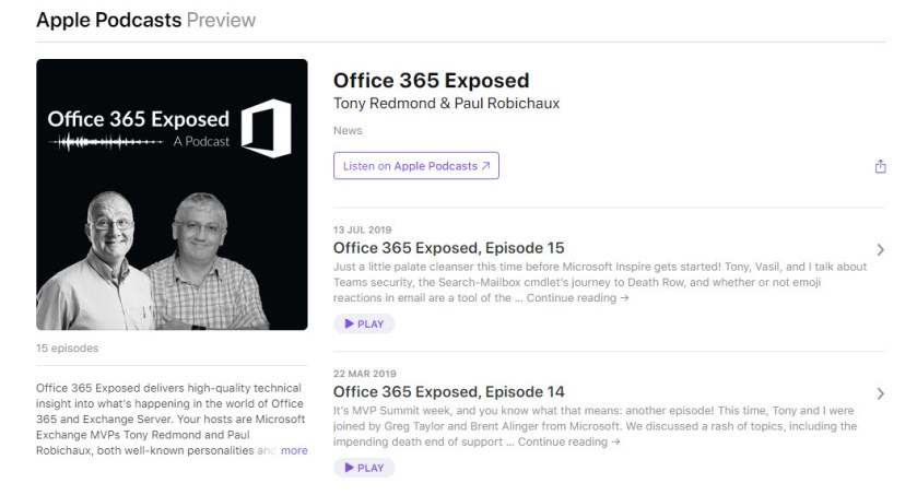 Office 365 Exposed on iTunes