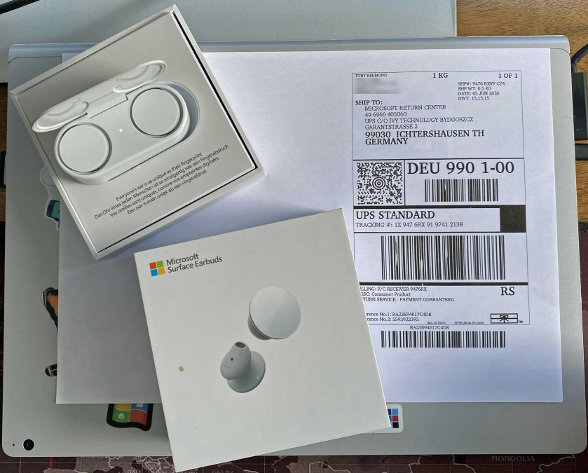 Returning Surface Earbuds to Microsoft
