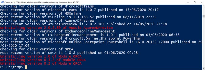 Updating PowerShell Modules
