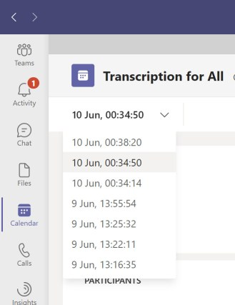 Multiple instances of a meeting generate multiple versions of the attendance report