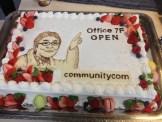 なんと、サプライズでケーキをいただきました。ありがとうございます!