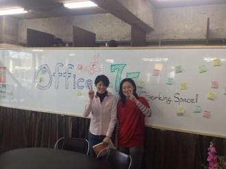 育児をしながら働く方々を支援しているグループ「ままのえん」の小林さんと高橋さんがいらっしゃいました。