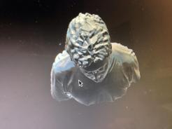 3Dスキャナーと3Dプリンターを使って、3Dプリンタで自分のフィギュアを作る。