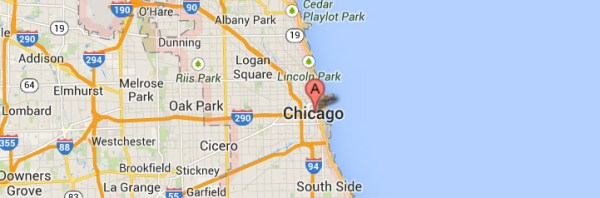 Chicago-Illinois Map