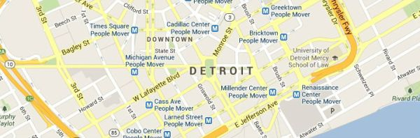 Detroit Michigan Map