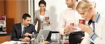 Employees Drinking Coffee