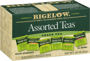 Bigelow Teas, let us supply your afternoon needs for team with one of our personal favorites Bigelow.