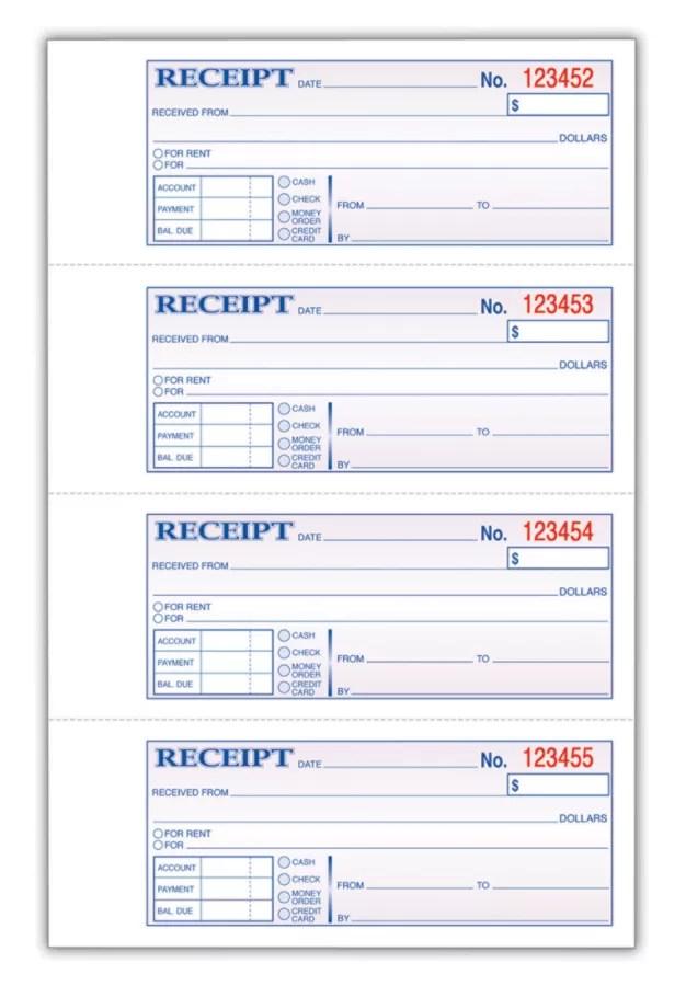 Adams Carbonless Money Rent Receipt Book 3 Part 7 5 8 X 11 Book Of 100 Sets Item 162354