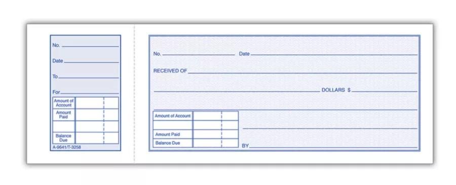 Adams Money Receipt Book 2 3 4 X 7 15 16 1 Part White 50 Receipts Per Book Pack Of 5 Books Item 391177