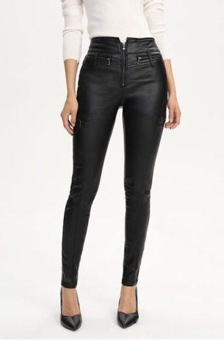pantalon-basiques-femmes-mode-casual-simili-cuir-taille-hau