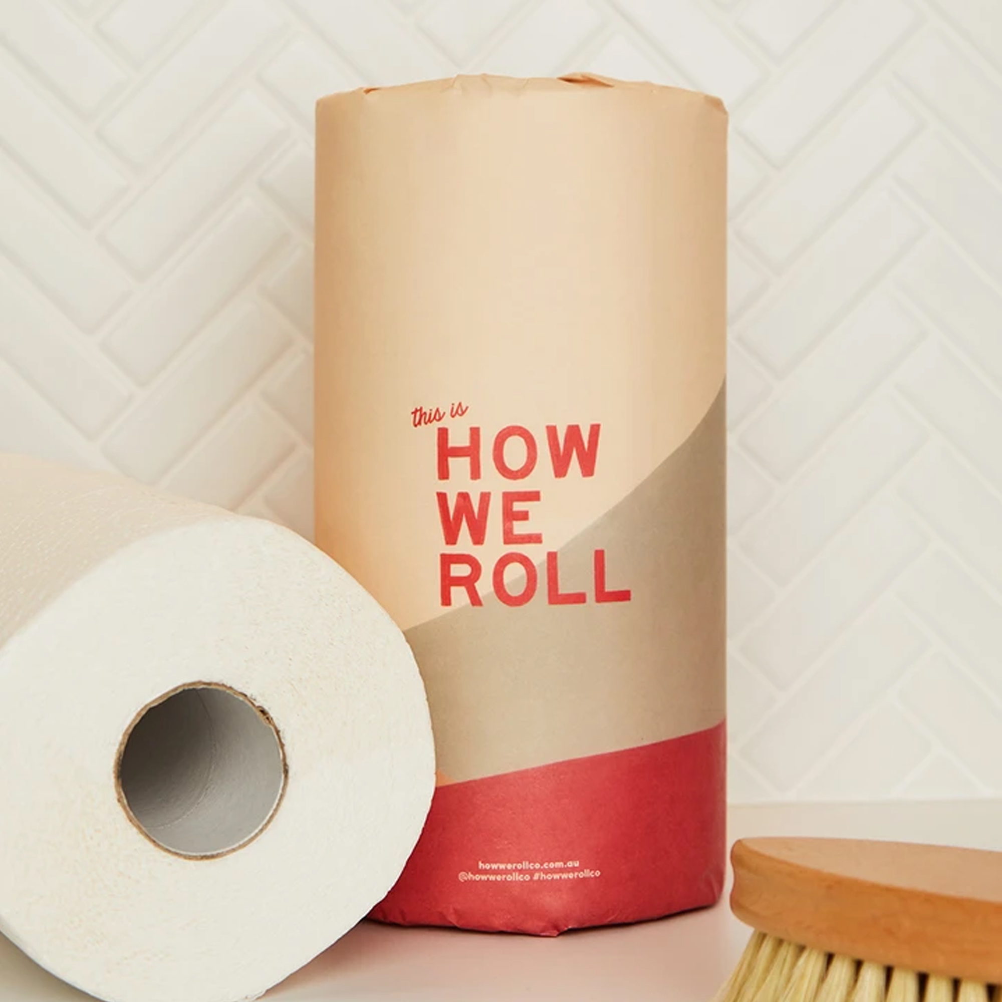 100% Bamboo 2 Ply Paper Towels (120 sheets) – 6 Rolls