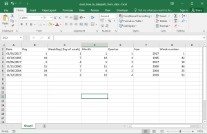 Excel How To - Month from date. Year from date