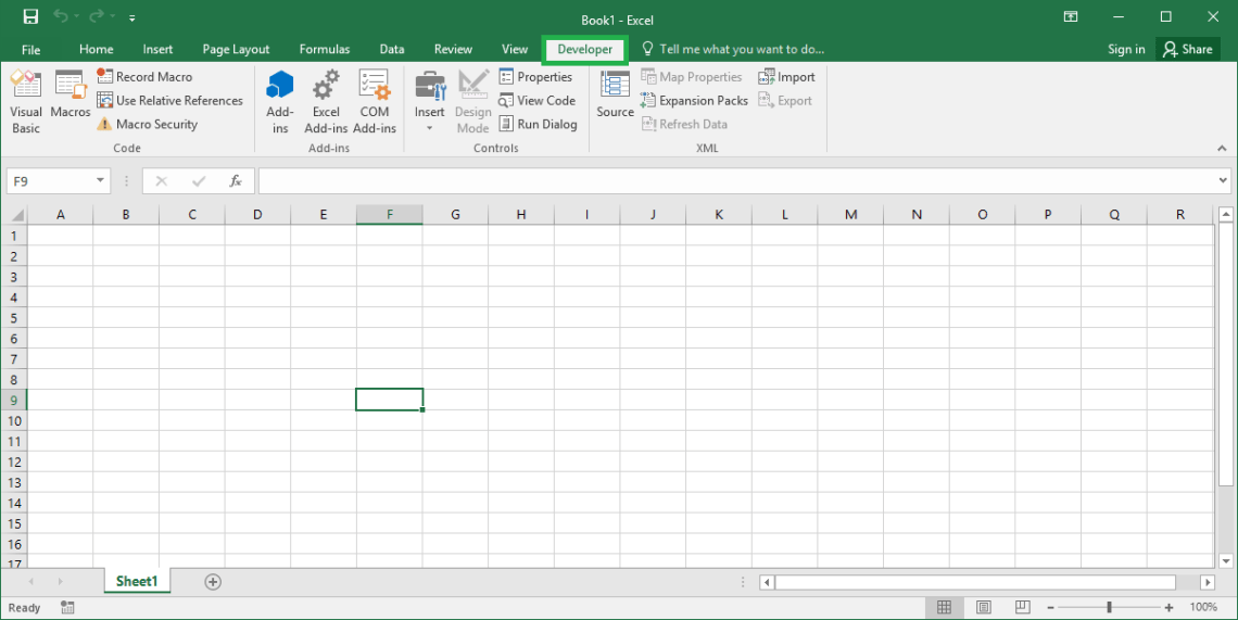 Excel VBA Tutorial - How to enable developer tab in Excel ribbon