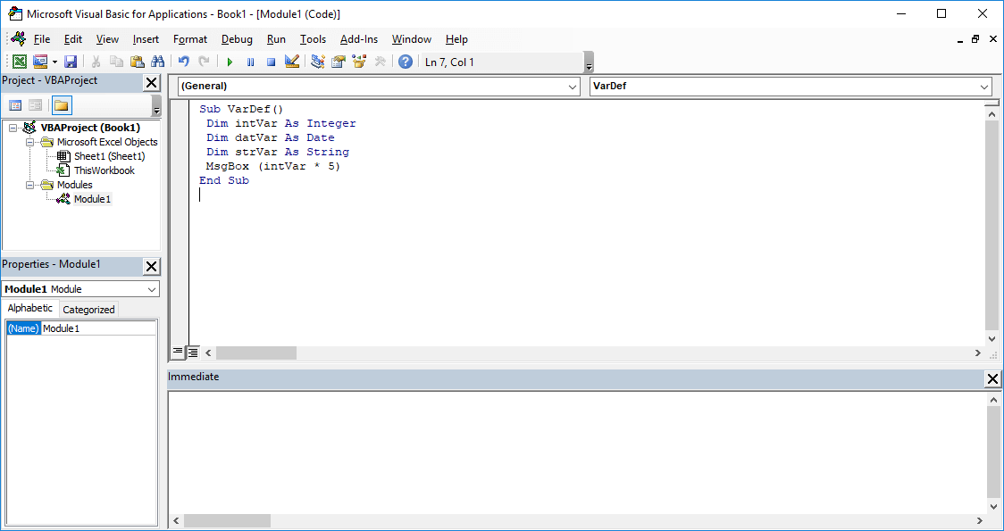 Excel VBA course - How to declare VBA variables