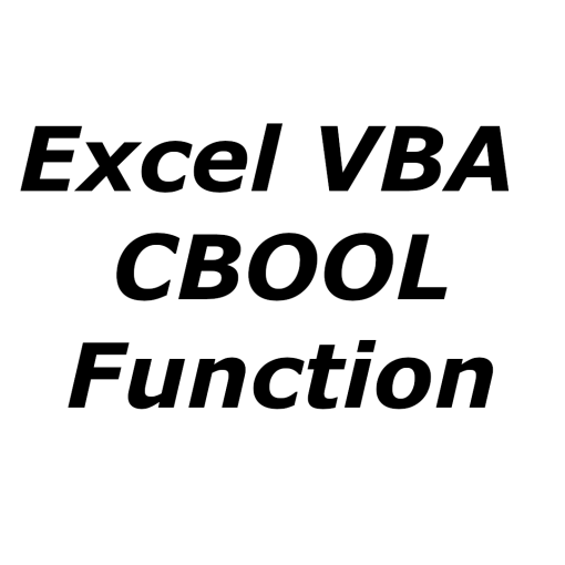 Excel VBA CBOOL function